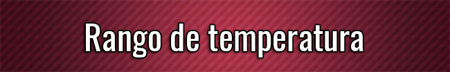 Rango de temperatura